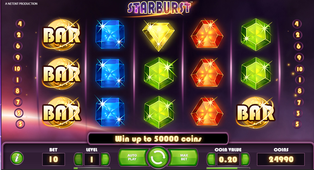 Slot game starburst